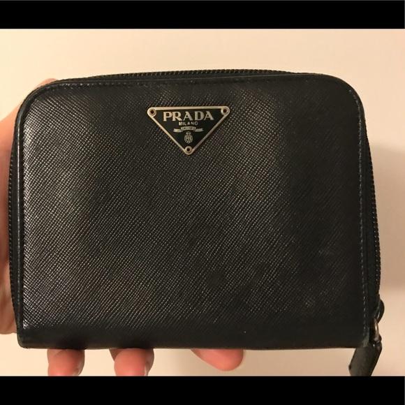 7c9e0ca7c93c Prada Bags | Saffiano Leather Zip Around Wallet | Poshmark